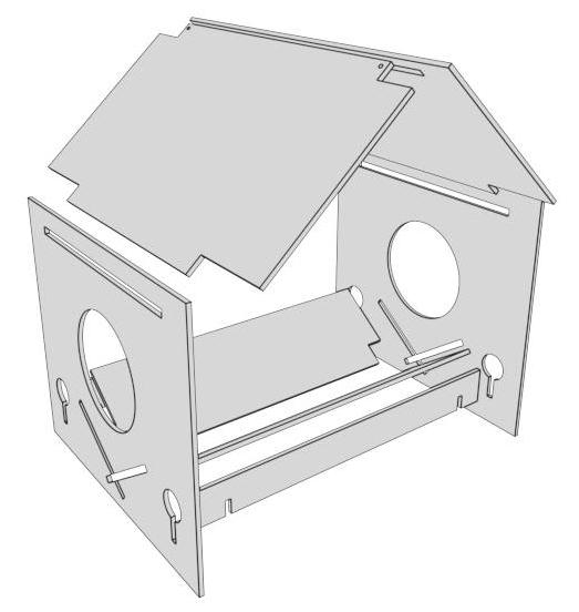 Vogelhaus Stecksystem